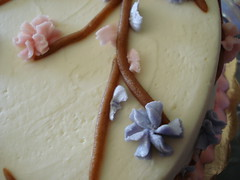 closeup of shower cake (clairecrafts) Tags: cake icing marzipan