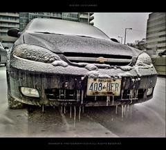 (Sash Kunnath) Tags: winter snow canada car lazy mornings icicles hdr 2010 n82