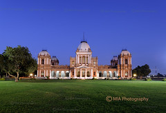 Noor Mahal (Noor Palace), Bahawalpur, Pakistan (I M R @ N) Tags: longexposure trees sunset green nature architecture buildings evening nikon mahal noor longexposures bahawalpur bluehours d700 noormahal noorpalace
