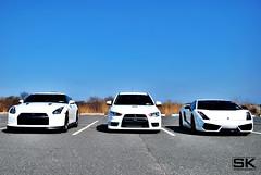 Skyline GTR/Mitsubishi Evolution X/Lamborghini Superleggera (skochur) Tags: white skyline nissan evolution x lamborghini mitsubishi gallardo gtr superleggera captree worldcars