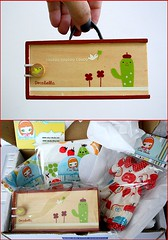 Sonho em forma de pacote... (Teka e Fabi) Tags: dress gift mailday vestido received presente fabrics tecidos decole correio sewingbox recebido caixadecostura decolello crisshida