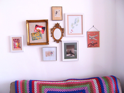 My little art wall...