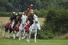 Romans Soldiers, Roman Army Mounted on Horseback, Ermine Street Guard at Kelmarsh (Steve Greaves) Tags: red horses italy rome field leather silver army gold countryside italian ancient war uniform catchycolours dress arms roman juliuscaesar sandals military helmet battle horsemen event riding hedge mounted sword imperial conflict soldiers historical shield warriors recreation armour period invasion reenactment horseback troops romanempire reenactors equine authentic legion romans invading armoury reconstruction invaders cohort legionary gallop riders spear horseman livinghistory reenacting warfare breastplate englishheritage kelmarsh erminestreetguard romansoldiers gladius battledress romanarmy kelmarshhall paxromana nikond300 fightingforce 43ad