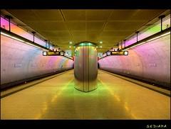rainbow-coloured (sediama (break)) Tags: germany subway geotagged metro pentax 2006 explore ubahn bochum jahrhunderthalle bochumerverein anawesomeshot k20d sediama igp7766 ralphkensmann ©bysediamaallrightsreserved