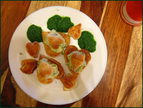 leek and mushroom vol au vents with watercress sauce