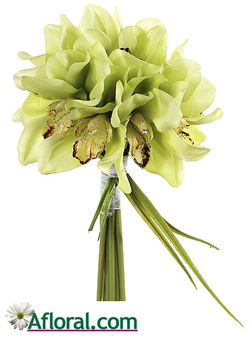 Green Cymbidium Orchid Bouquet