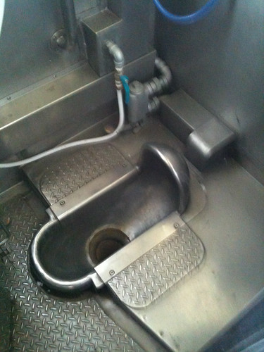 Squat toilet on train