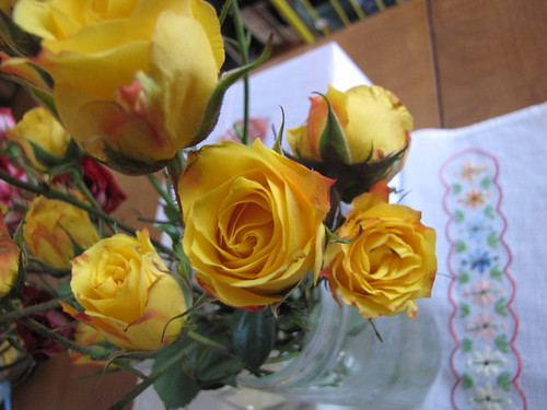 yellow roses for the new year