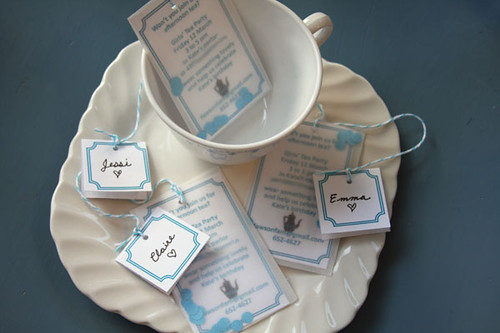 tea party etiquette invitations
