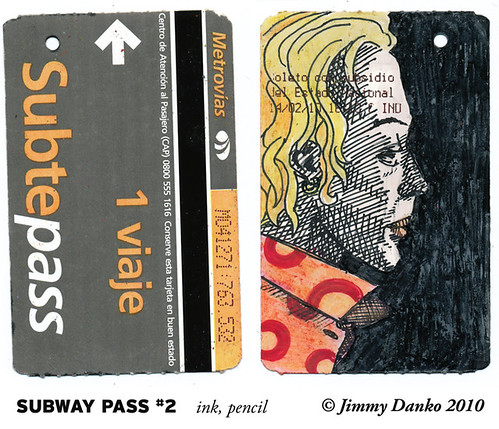 Sketch of the Day 3-17-2010: Back of Subway Pass: #2