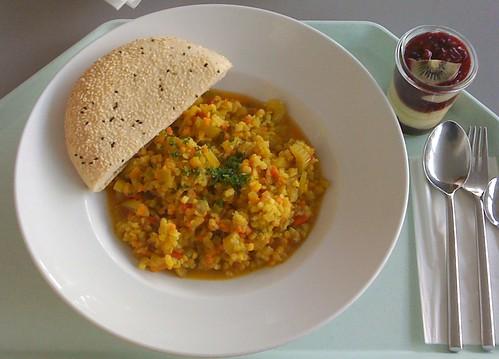 Orientalischer Linse-Reis-Eintopf / Oriental Lentil Rice Stew