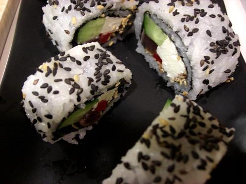 bonito aku sushi rolls