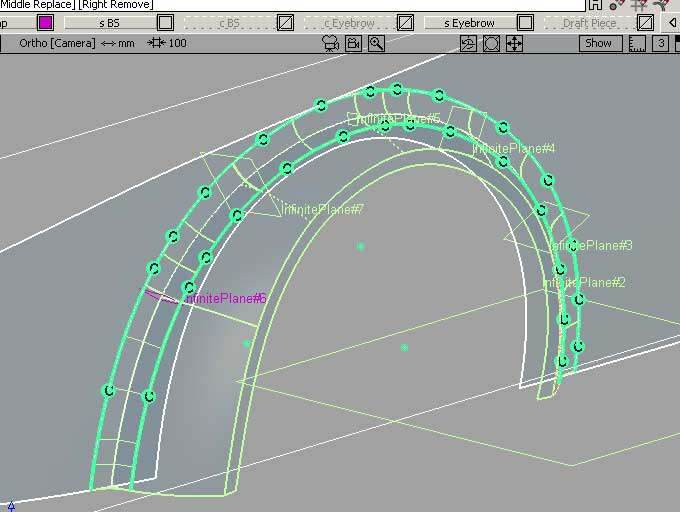 Method for Making A BIG Radial Wheel Arch. Note the Numerous Radial Patches and the Curves Built with Construction Planes and the Align Tool