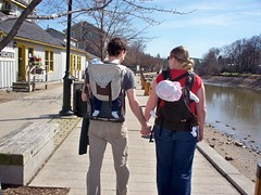 Babywearing along the canal