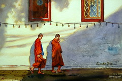 18-06-10 Beloved Thailand :      ไทยนี้รักสงบ (Watercolor : 27x37cm.)