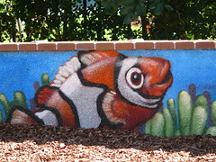 Playing in the Town Green (phempsall) Tags: fish playground kids painting children play nemo equipment clownfish portmacquarie towngreen