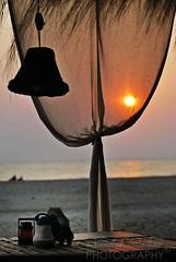 Another Sunset (SandeepRathod) Tags: sunset sea india beach nikon curtain goa nikkor 70300mm d60 agonda