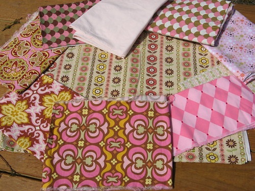 Fabrics for Pink Bee - another view