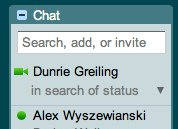 Google Chat status