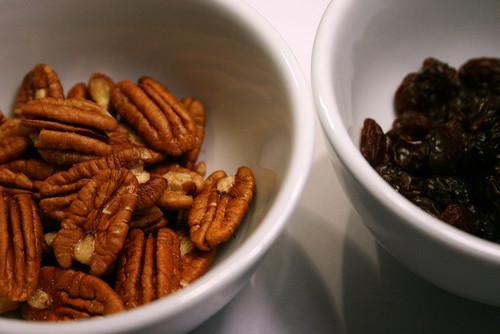pecans and raisins