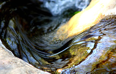 bending stream (wademcmillan) Tags: california santa county mountains macro reflection nature water digital speed canon rebel photo los movement peace force power bend angeles fresh erosion clean southern monica zen harmony curl concept dslr curve current resource xsi