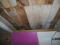 left side of upstairs bedroom ceiling