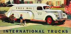 1940 International Tanker Truck (aldenjewell) Tags: truck ad 1940 international tanker
