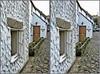Balliolman_Cosy Cottage_X (Balliolman) Tags: window wonderful 3d cornwall backstreet doorway stereo excellent cobbles crossed newlyn flowerbeds cosycottage