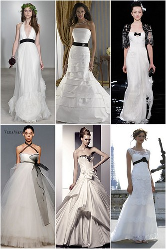 Black accents. Some might go as far as wearing a black wedding dress (eg.