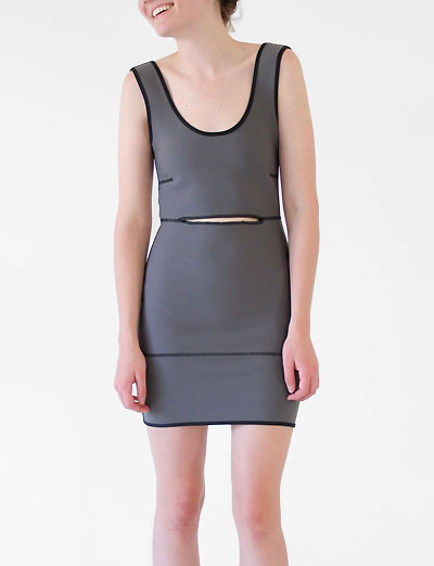 Alexandra Cassaniti Neoprene Cut-Out Dress