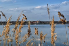 Lacu Sarat (AnaAyana) Tags: blue lake nature water clouds landscape hdr smallhouse braila refflection lacusarat hdraward
