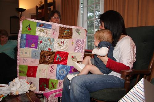 Nora opening birthday presents