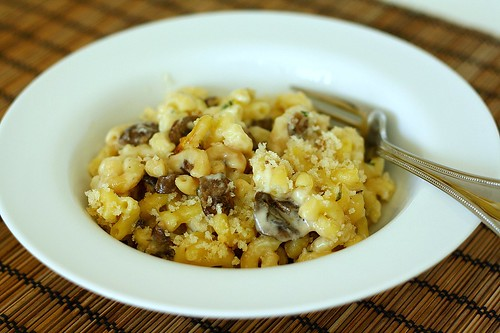 Mushroom Herb Macaroni and Cheese | Tracey's Culinary Adventures