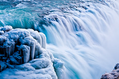 Icy Falls (Huw Hopkins LRPS Photography) Tags: blue ice water speed photography golden waterfall iceland spring slow falls shutter gulfoss huw hopkins