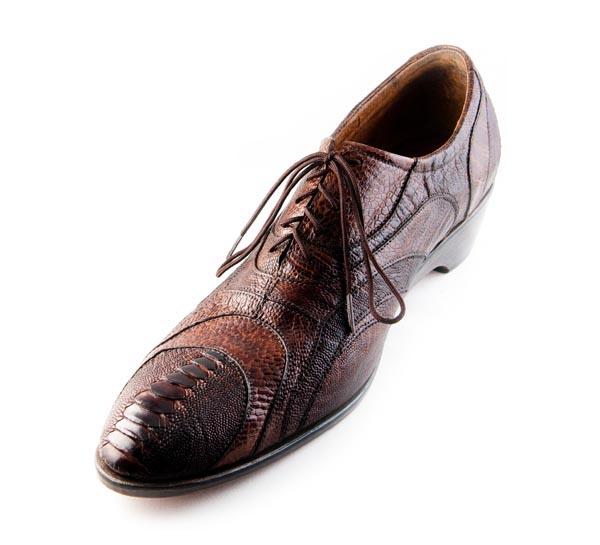 Figura 05 Shoes41_Ostrich Oxford in Brown Ostrich Leg