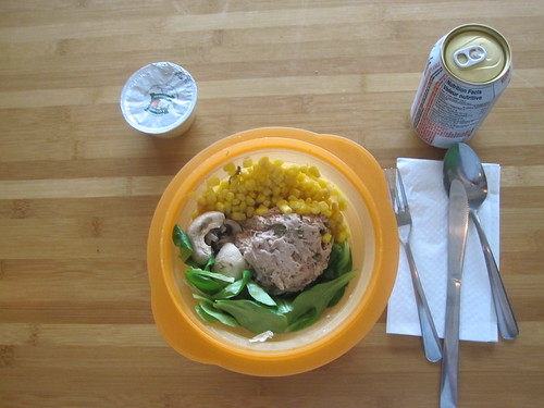 Tuna salad, apple sauce, Diet Coke - $1.25