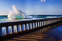 Untitled (Theophilos) Tags: sea sky shadows action wave rail greece crete splash rethymno κρήτη ελλάδα θάλασσα κύμα κίνηση κάγκελο ρέθυμνο ουρανόσ σκιέσ παφλασμόσ