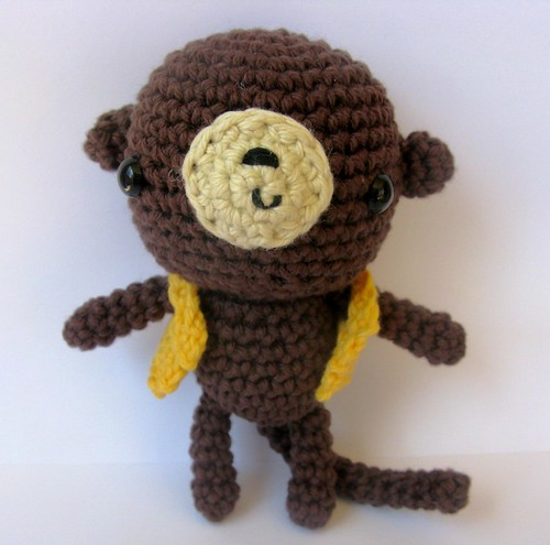 a little amigurumi monkey...