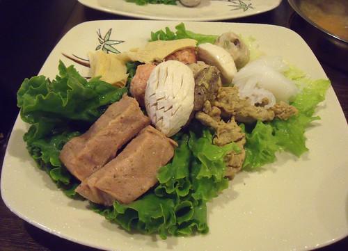 Vegetarian meat platter