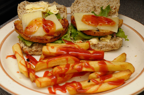 Healthy Chicken Burger & Chips