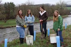 Jenny, Stephanie, Julia, and Anna pose