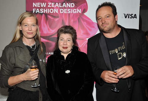 Kate Sylvester (featured designer in New Zealand Fashion Design'), author Angela Lassig and Wayne Conway
