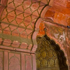 Mosque Detail - Delhi (L F Ramos-Reyes) Tags: leica travel sky india detail colors asia shadows delhi details mosque highlights ceiling hindu masjid jamamasjidmosque