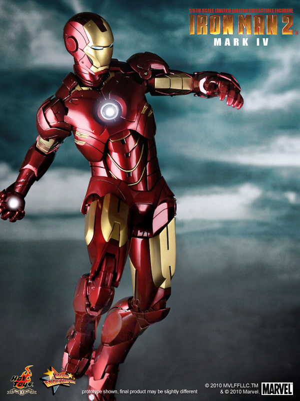 Iron Man 2 Mark IV flying toy