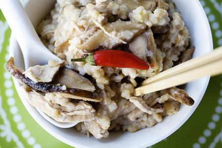 Chicken & Shitake Congee (2)
