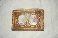 vintage frame (wolvessss) Tags: white floral vintage gold lace antique oldschool sheets bow frame sheet tulle photoframe detailed