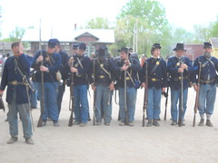 Yanks at Old Cowtown (99kps) Tags: war weekend civil wichita cowtown