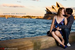 Aaron and Michelle (iamichael) Tags: cactus love water engagement kissing couple harbour sydney australia therocks operahouse softbox strobe v4 430ex offcameraflash strobist esession
