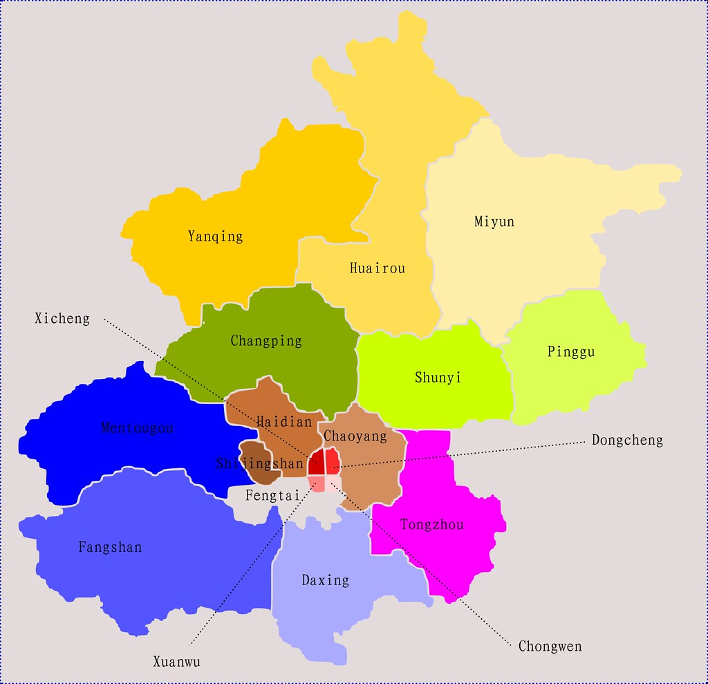 Beijing District Map