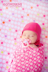 .everything nice. (*miss*leah*) Tags: pink flowers hat nikon colorful bright polkadots babygirl newborn pacifier sleepingbaby swaddled sugarandspice 247028 everythingnice nikond700 leahhoskins